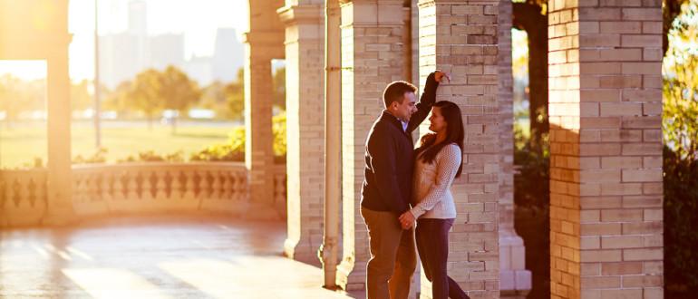 Belle Isle engagement photo