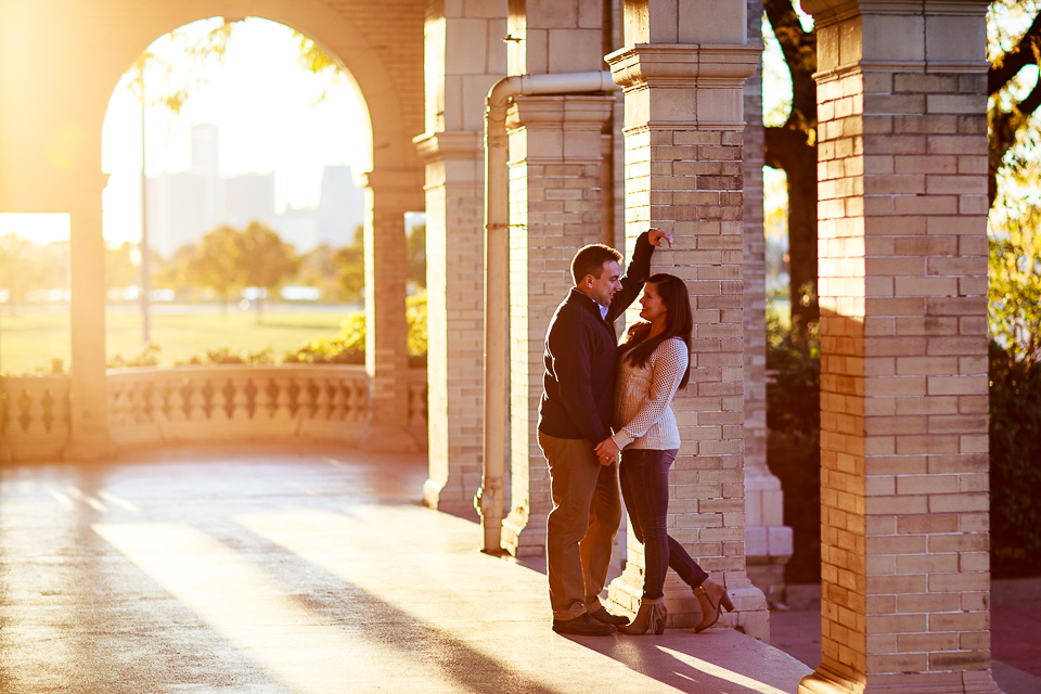 Belle Isle engagement photo