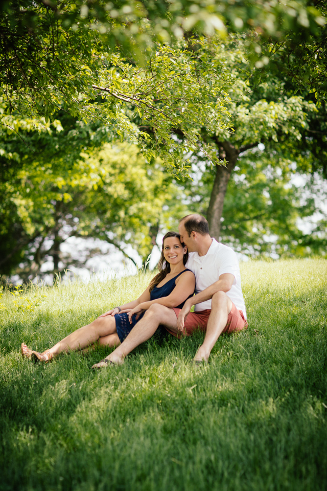 Detroit River engagement photo